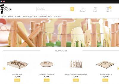 Création du site e-commerce de la marque Marché du Bon Berger