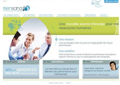 Refonte complète du site Mensana.fr