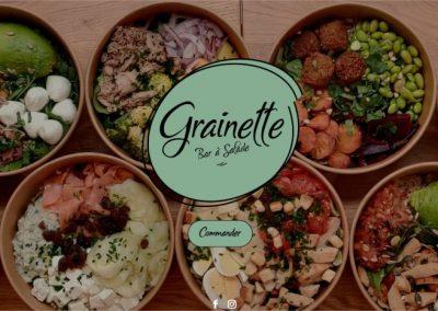 Création d'un site web pour un bar à salade