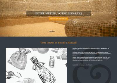 Création du site de L'atelier Spa & Beauté