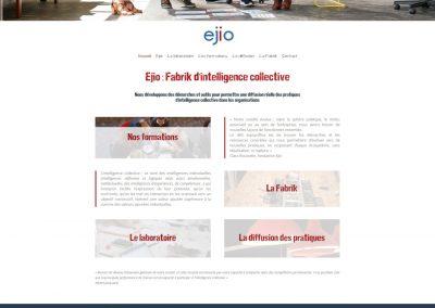 Création du site vitrine de la société Ejio
