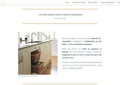 Création du site et blog de The Green Organiser