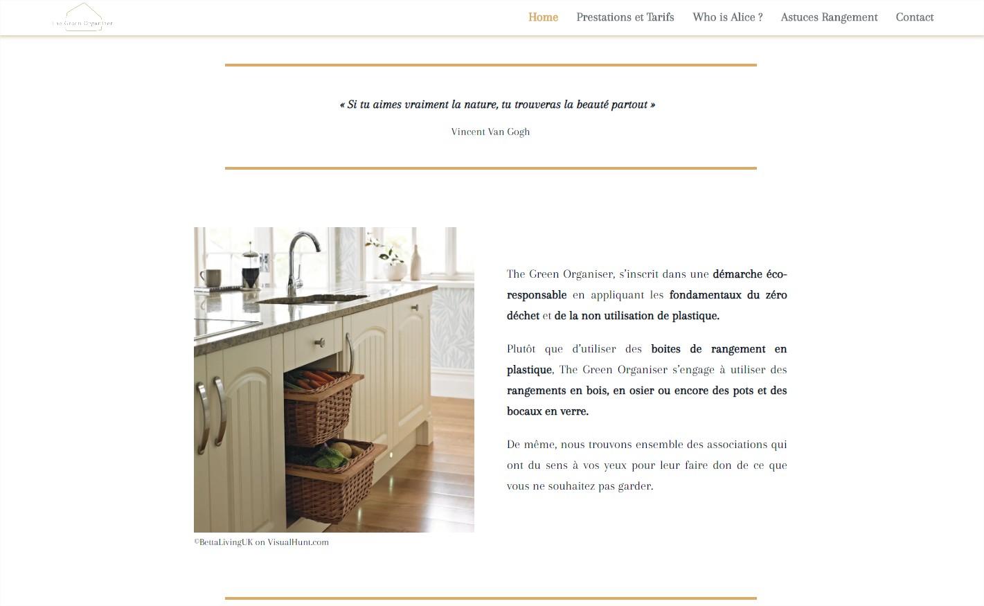 Site The green organiser