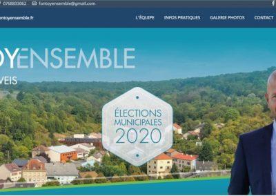 Création du site de présentation du candidat aux élections municipales de la ville de Fontoy: M. Mathieu Weis