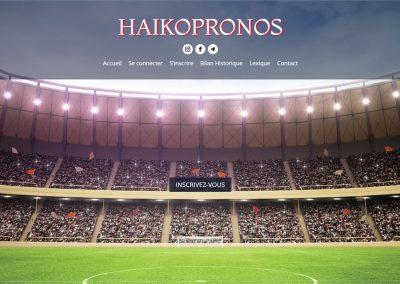 Création du site de pronostics sportifs Haikopronos