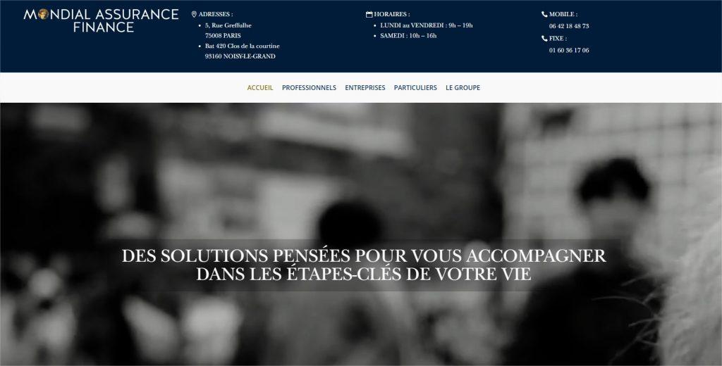 Site Mondial Assurance Finance
