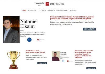 Création du site des Trophées DogFinance