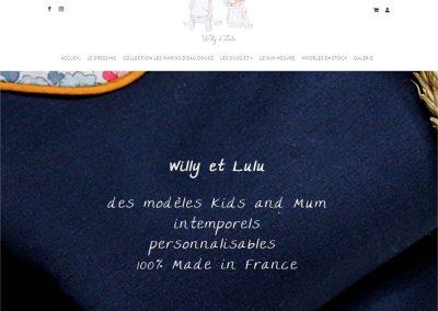 Création du site e-commerce Willy Et Lulu