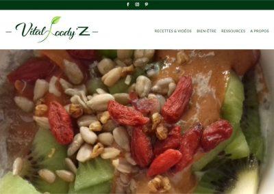 Création du blog de recettes Vital Foody'z
